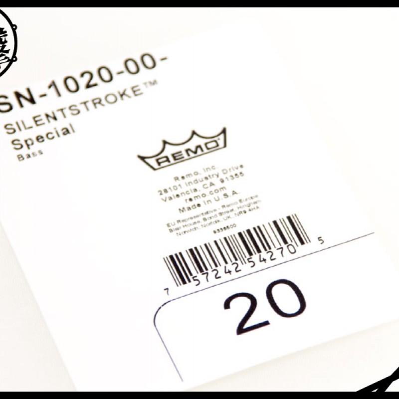 Remo SilentStroke 20吋靜音網狀鼓皮 (SN-1020-00) 【美鼓打擊】