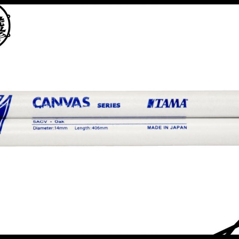 TAMA CANVAS 白底藍字印刷橡木鼓棒