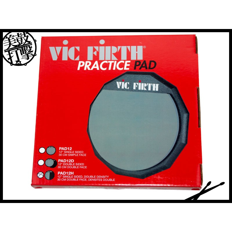 Vic Firth 單面十二吋雙材質彈性膠面打點板 (VFOP-PAD12H) 【美鼓打擊】