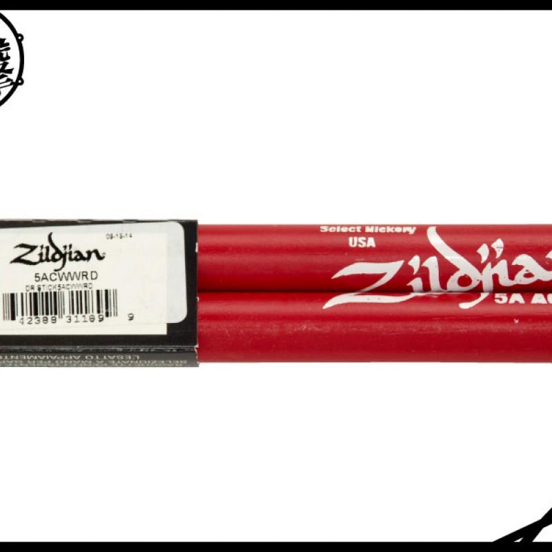 Zildjian 5ACWWRD 5A紅色防滑鼓棒