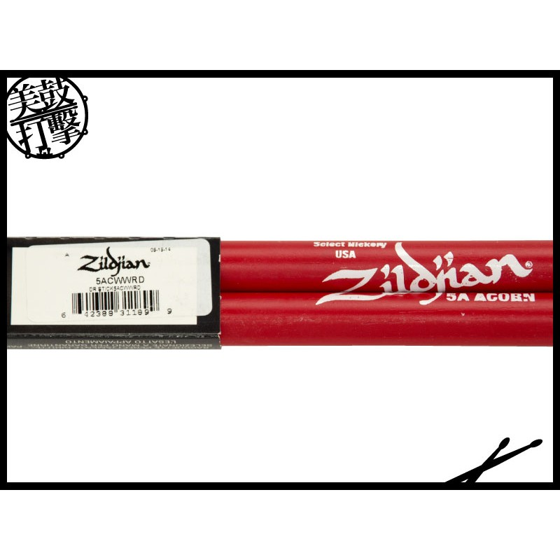 Zildjian 5ACWWRD 5A紅色防滑鼓棒 (5ACWWRD) 【美鼓打擊】