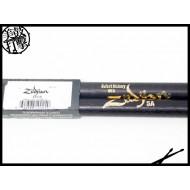 Zildjian 5A 橢圓型棒頭黑色鼓棒