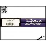 Zildjian 7A Dip 圓頭紫色防滑鼓棒