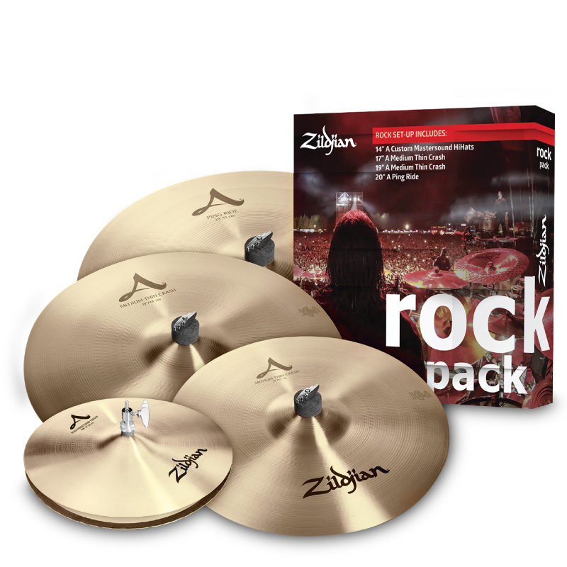 Zildjian A0801R A系列Rock套組 適合搖滾曲風 (A0801R) 【美鼓打擊】