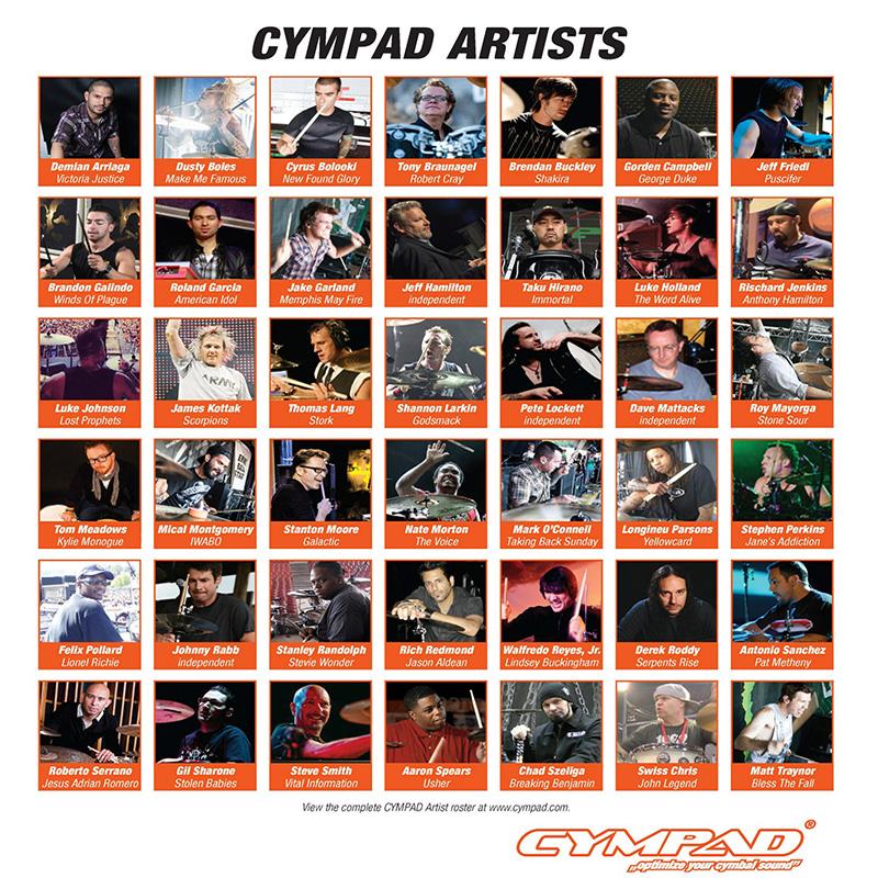 Cympad Chromatics 特製橘色銅鈸毛氈 (CS15-5O) 【美鼓打擊】