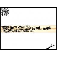 iSBN i-311w 黑骷髏頭圖騰白色鼓棒